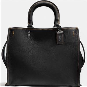 NWT Large Coach Rouge bag black with copper
